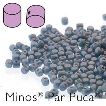 Opaque Blue Grey  Minos Par Puca 2 5x3mm Cylinder Czech Glass Beads 5 Grams