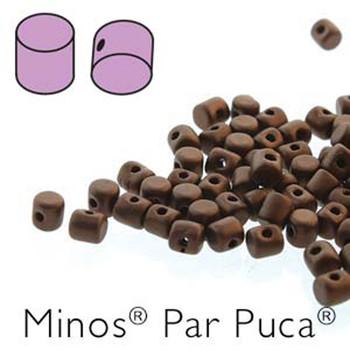 Dark Bronze Mat  Minos Par Puca 2 5x3mm Cylinder Czech Glass Beads 5 Grams