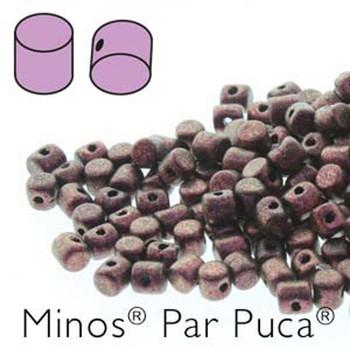 Metallic Mat Dark Violet Minos Par Puca 2 5x3mm Cylinder Czech Glass Beads 5 Grams
