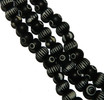red painted a la hand 12mm 18 Beads metal