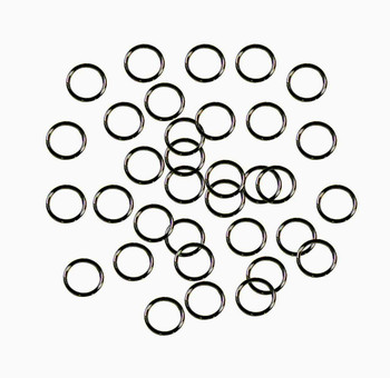Soldered Closed 100 Jump Rings Gunmetal Black Oxide 8mm Round 21 Gauge Z-G-080530212913-BO