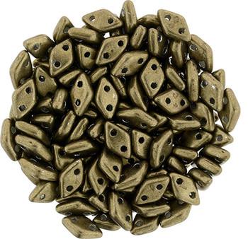 Saturated Metallic Emperador CzechMate 2 hole Diamonds 9.5 grams 130 Beads 4x6.5mm