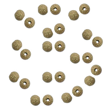 Star Dust 4mm Gold Plate 144 Beads