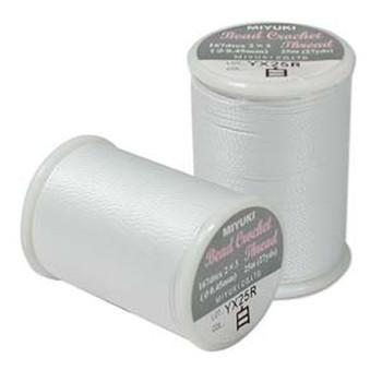 Miyuki Bead Crochet Size 8 White 25 Yards