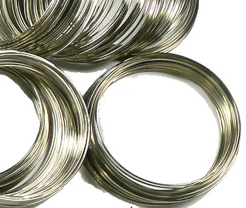 Memory Beading Wire, Spring Steel, 2-1/4 Inch Bracelet, 0.55-0.60mm Thick. Approximately 200 Loops. Rb17928