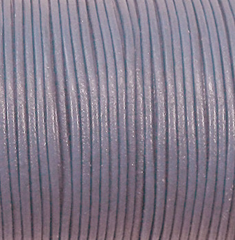 Imported India Leather Cord 2mm Round 5 Yards Dyed DK Violet Blue C-Lea2mm-5Y-005