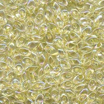 Pale Yellow Lined Crystal Ab 8.5 Grams 4x7mm Long Magatama Glass Fringe Beads Lma-2146