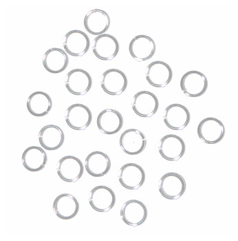 100 Jump Rings Silver-Plated Brass 7mm Round 20 Gauge. 5.5mm Inside RA4926FN