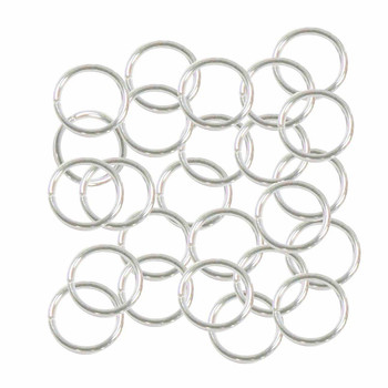 100 Jump Rings Silver-Plated Brass 10mm Round 20 Gauge. 8.5mm Inside RA5138FN