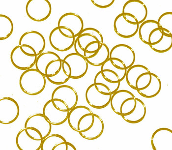 100 Jump Rings Gold-Plated Brass 8mm Round 20 Gauge. 6.5mm Inside RA5099FN