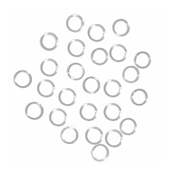 100 Jump Rings Silver-Plated Brass 6mm Round 20 Gauge. 4.5mm Inside RA4935FN