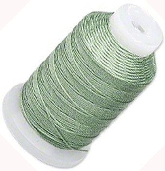 Silk Beading Thread Cord Size E Medium Green 0.0128 Inch 0.325mm Spool 200 Yd 5088Bs