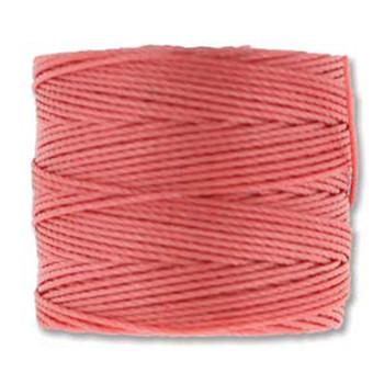 S-Lon Nylon Beading Cord #18 0.5mm Chinese Coral 77 Yards  1 Spool