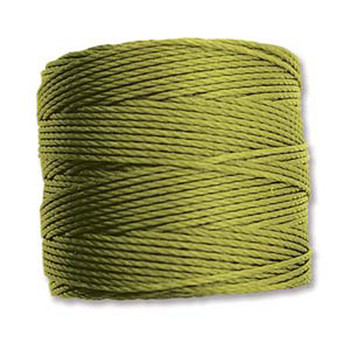 S-Lon Nylon Beading Cord #18 0.5mm Chartreuse 77 Yards  1 Spool