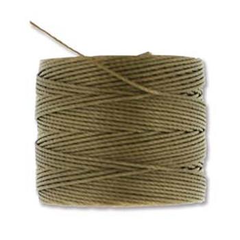 S-Lon Nylon Beading Cord #18 0.5mm Dk Tan 77 Yards  1 Spool
