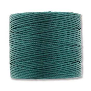 S-Lon Nylon Beading Cord #18 0.5mm Green Blue 77 Yards  1 Spool