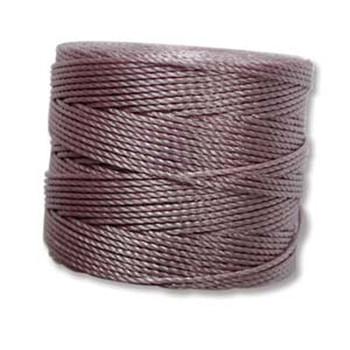 S-Lon Nylon Beading Cord #18 0.5mm Dk Lavender 77 Yards  1 Spool