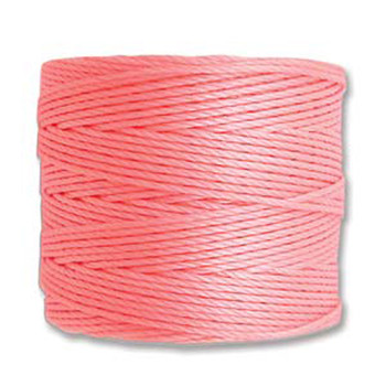 S-Lon Nylon Beading Cord #18 0.5mm Lt Pink- 77 Yards  1 Spool