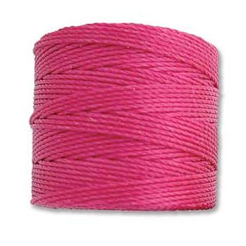 S-Lon Nylon Beading Cord #18 0.5mm Magenta 77 Yards  1 Spool