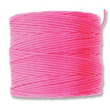 S-Lon Nylon Beading Cord #18 0.5mm 210 77 Yards  Neon Pink  1 Spool