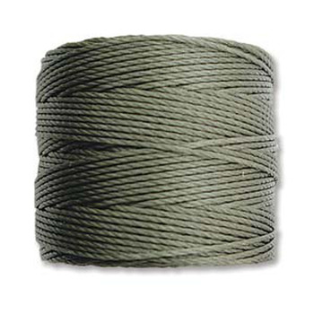 S-Lon Nylon Beading Cord #18 0.5mm Olive 77 Yards  1 Spool