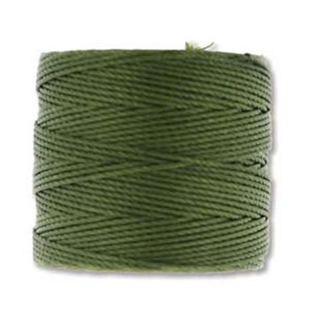 S-Lon Nylon Beading Cord #18 0.5mm Olivine 77 Yards  1 Spool