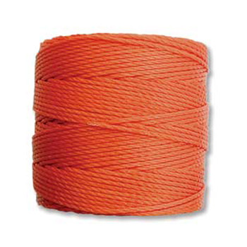 S-Lon Nylon Beading Cord #18 0.5mm Orange 77 Yards  1 Spool