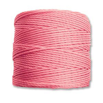 S-Lon Nylon Beading Cord #18 0.5mm Pink 77 Yards  1 Spool