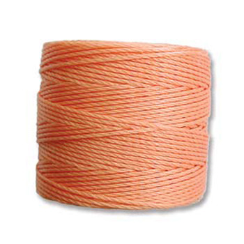 S-Lon Nylon Beading Cord #18 0.5mm Pumpkin 77 Yd 1 Spool