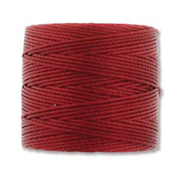 S-Lon Nylon Beading Cord #18 0.5mm Red-Hot 77 Yards  1 Spool