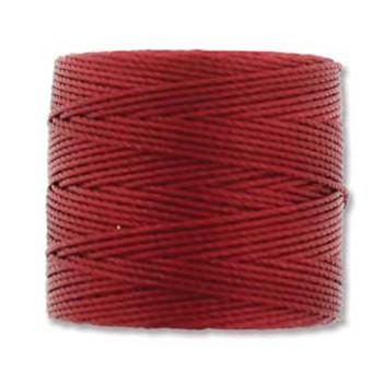 S-Lon Nylon Beading Cord #18 0.5mm Red-Hot 77 Yards  1 Spool