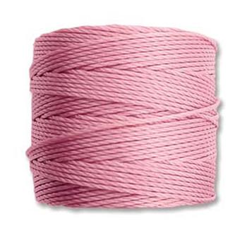 S-Lon Nylon Beading Cord #18 0.5mm Rose 77 Yards  1 Spool