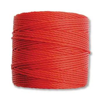 S-Lon Nylon Beading Cord #18 0.5mm Shanghai Red 77 Yards  1 Spool
