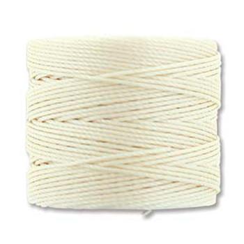 S-Lon Nylon Beading Cord #18 0.5mm Vanilla 77 Yards  1 Spool