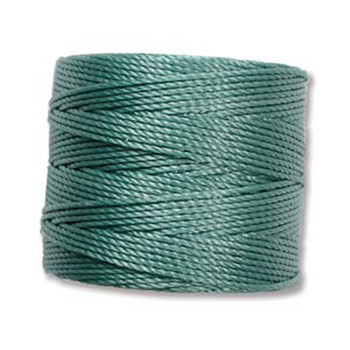 S-Lon Nylon Beading Cord #18 0.5mm Vintage Jade 77 Yards  1 Spool