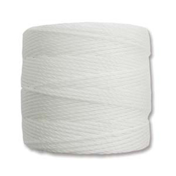 S-Lon Nylon Beading Cord #18 0.5mm White 77 Yards  1 Spool