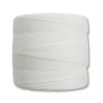 S-Lon Nylon Beading Cord #18 0.5mm White 77 Yards  1 Spool