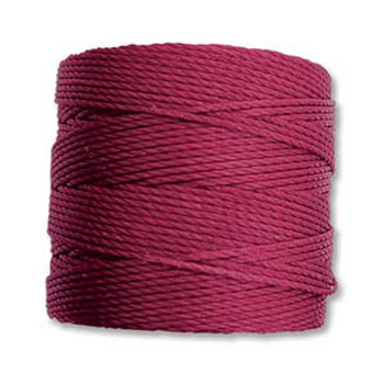 S-Lon Nylon Beading Cord #18 0.5mm Wine 77 Yards  1 Spool