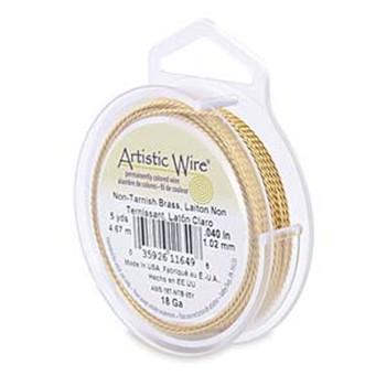 Artistic Wire 22 Gauge Twisted Round Brass 7 Yard