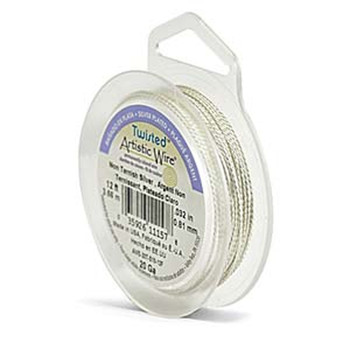 Artistic Wire 24S Gauge Twisted Round Silver 7 Yard