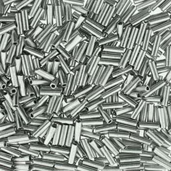 Premium Czech Glass Bugle Beads 7mm Bronze Aluminum 24 Grams