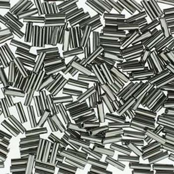 Premium Czech Glass Bugle Beads 7mm Full Chrome 24 Grams