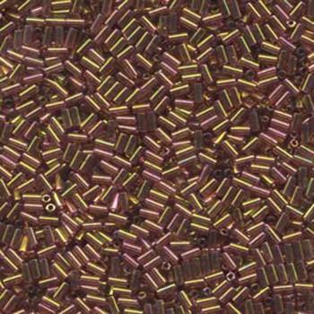 Miyuki #1 Glass Bugle Beads 3x1.5mm Gold Red Luster -Aprx 19 Grams