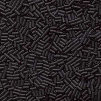 Miyuki #1 Glass Bugle Beads 3x1.5mm Matte Black -Aprx 19 Grams