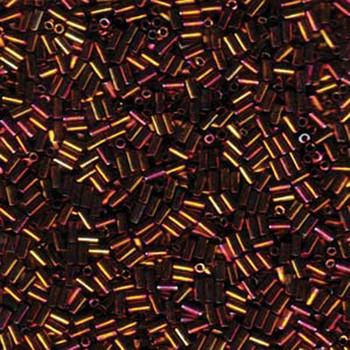 Miyuki #1 Glass Bugle Beads 3x1.5mm Metallic Gold Iris -Aprx 19 Grams
