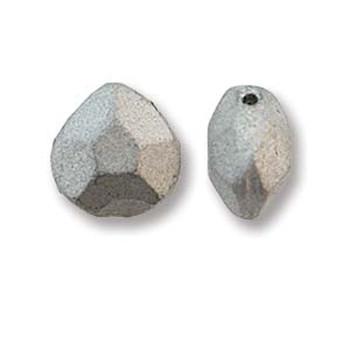 Briolette Czech Glass Drop Beads 9x10mm Bronze Aluminum 15 beads