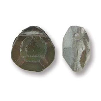 Briolette Czech Glass Drop Beads 9x10mm Backlit Spectrum 15 beads