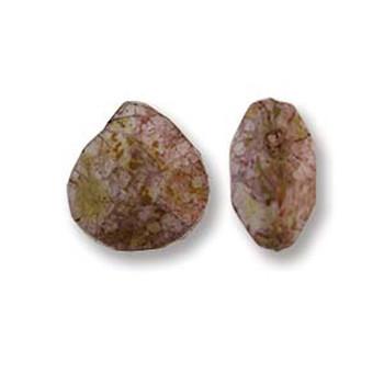 Briolette Czech Glass Drop Beads 9x10mm Senegal Purple 15 beads