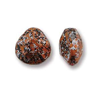 Briolette Czech Glass Drop Beads 9x10mm Tweedy Copper 15 beads