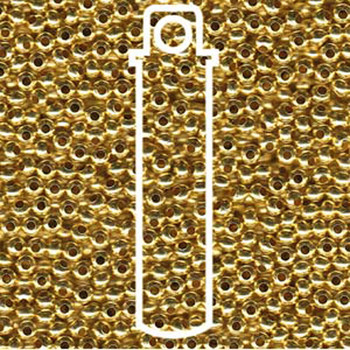 Genuine Metal Seed Beads 8/0  Gilding Metal 36 Grams Mt8-Glm-Tb